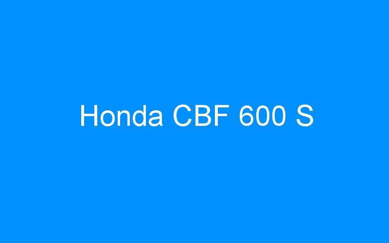 Honda CBF 600 S