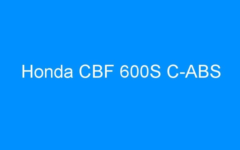 Honda CBF 600S C-ABS