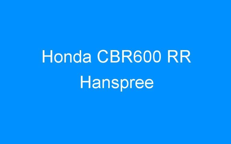 Honda CBR600 RR Hanspree