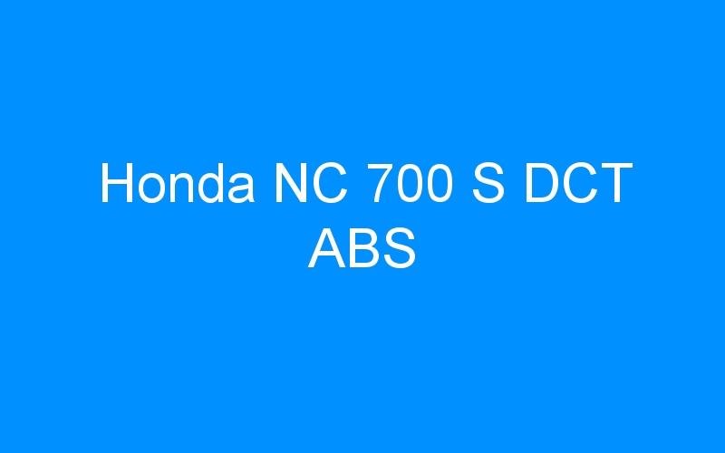 Honda NC 700 S DCT ABS