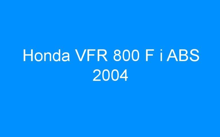 Honda VFR 800 F i ABS 2004