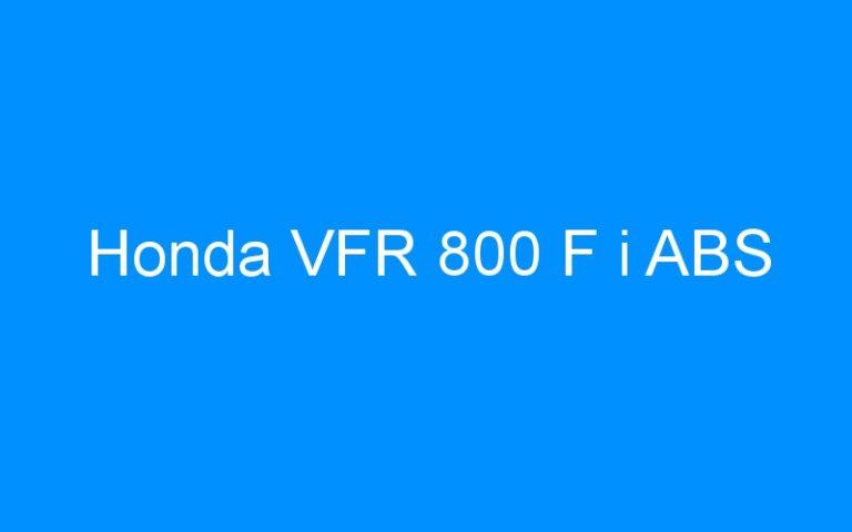 Honda VFR 800 F i ABS