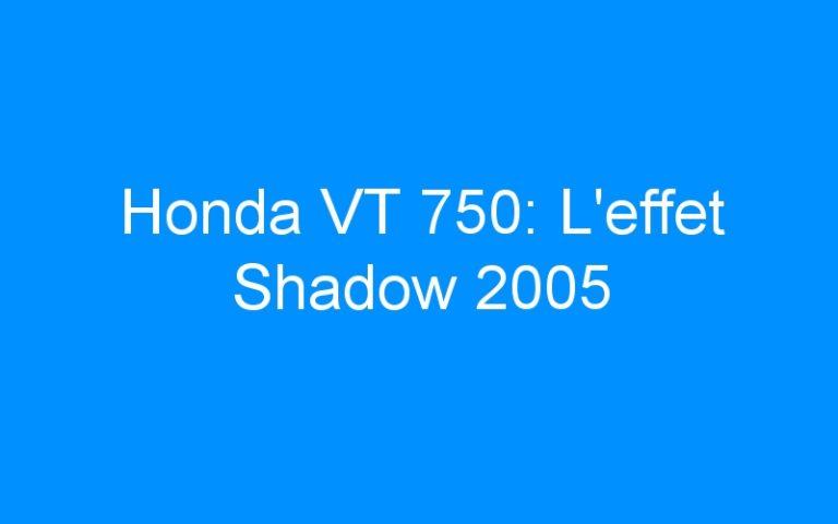 Honda VT 750: L'effet Shadow 2005
