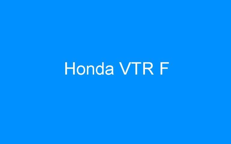 Honda VTR F