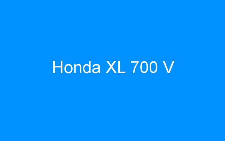Honda XL 700 V