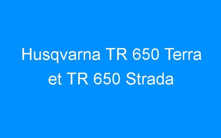 Husqvarna TR 650 Terra et TR 650 Strada