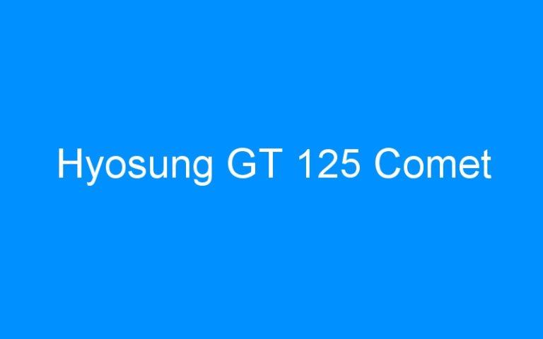 Hyosung GT 125 Comet
