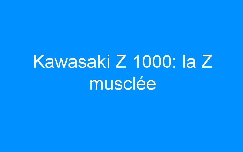 Kawasaki Z 1000: la Z musclée