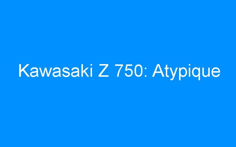 Kawasaki Z 750: Atypique