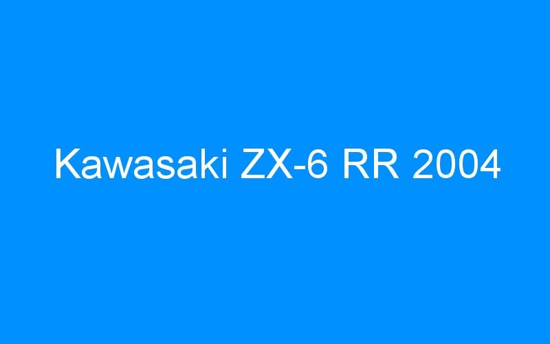 Kawasaki ZX-6 RR 2004