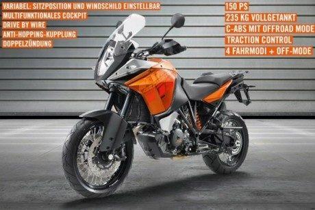 KTM 1190 Adventure 2013 : premières photos et informations officielles
