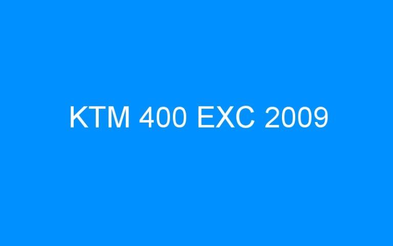 KTM 400 EXC 2009