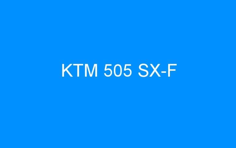KTM 505 SX-F