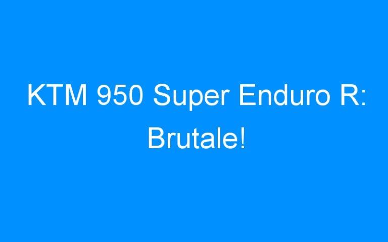 KTM 950 Super Enduro R: Brutale!