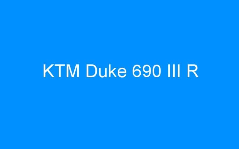 KTM Duke 690 III R