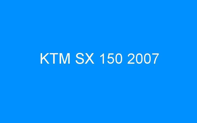 KTM SX 150 2007