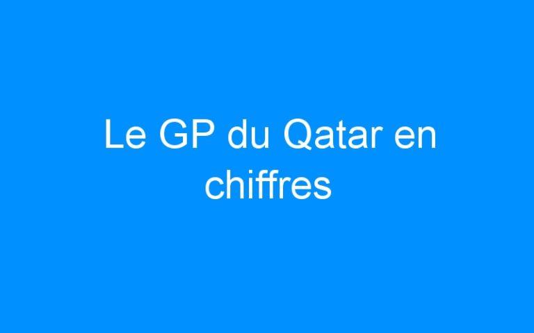 Le GP du Qatar en chiffres