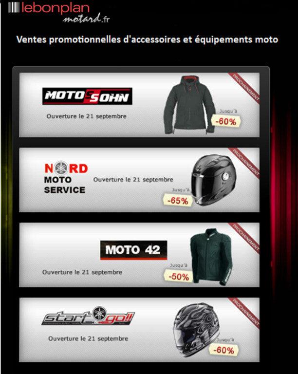 Lebonplanmotard.fr : le premier site de ventes privées d'accessoires moto