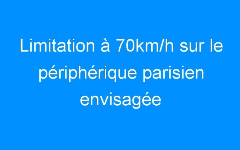 Limitation à 70km/h sur le périphérique parisien envisagée