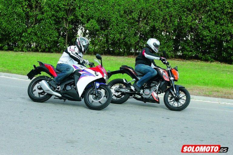Comparatifs KTM Duke 125, Honda CBR 125 R