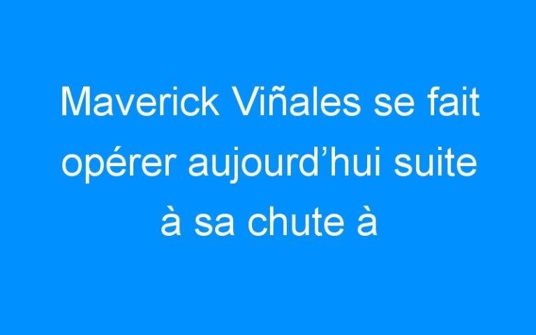Maverick Viñales se fait opérer aujourd'hui suite à sa chute à Jerez