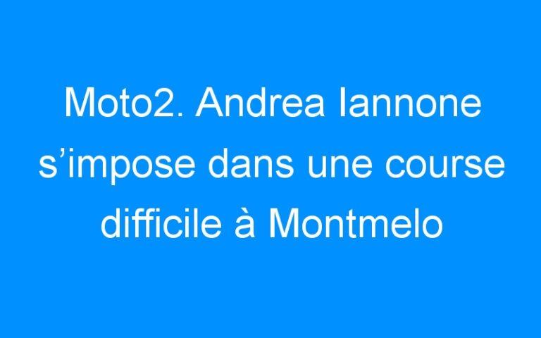 Moto2. Andrea Iannone s'impose dans une course difficile à Montmelo