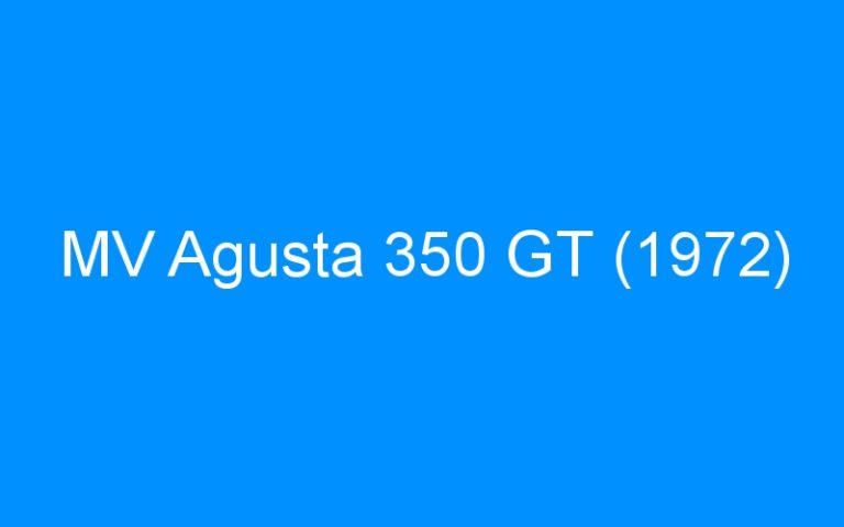 MV Agusta 350 GT (1972)