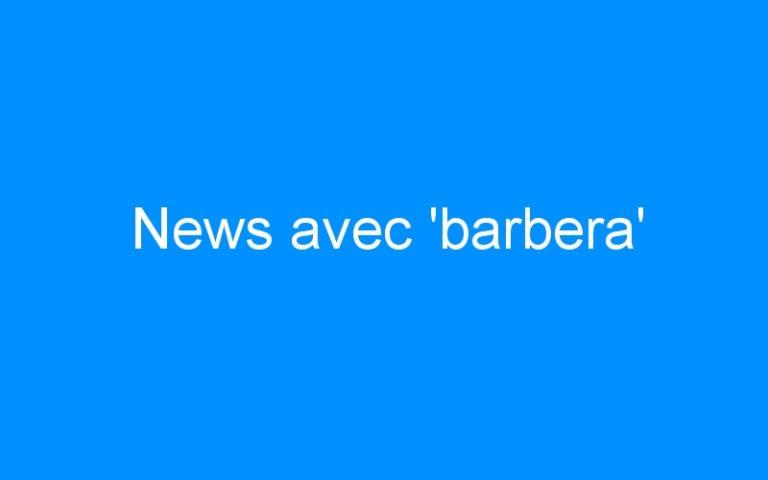 News avec 'barbera'