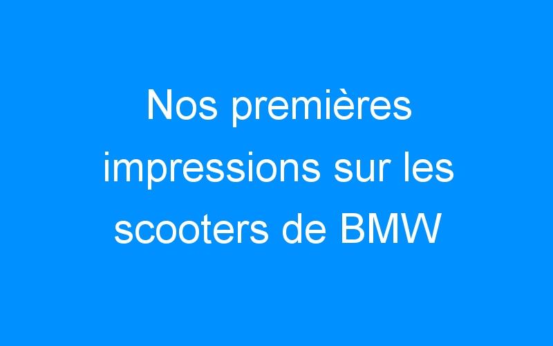 Nos premières impressions sur les scooters de BMW