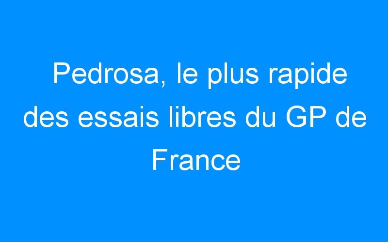 Pedrosa, le plus rapide des essais libres du GP de France