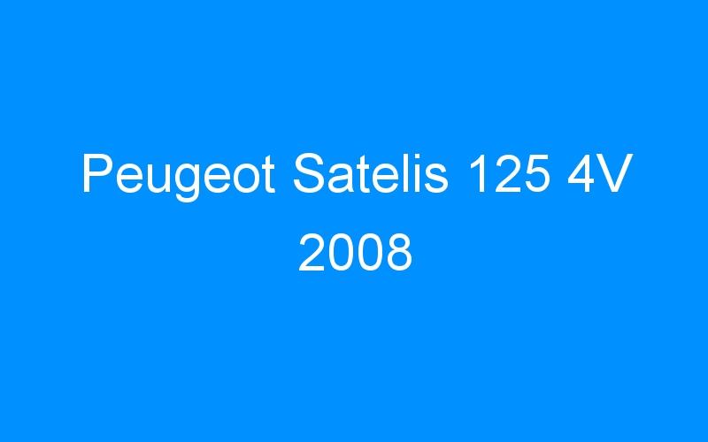 Peugeot Satelis 125 4V 2008