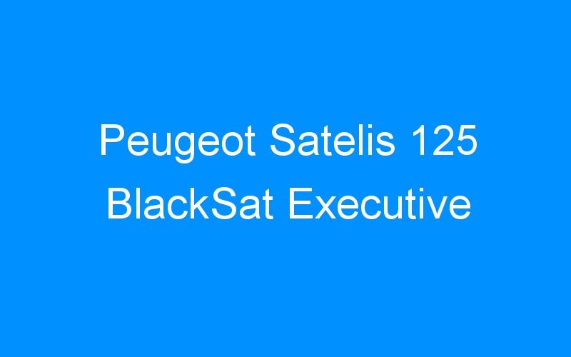 Peugeot Satelis 125 BlackSat Executive