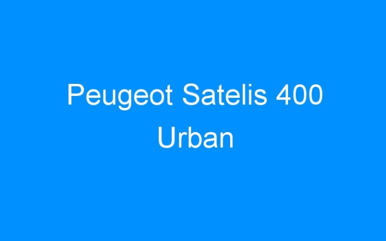 Peugeot Satelis 400 Urban