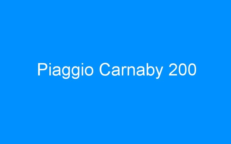 Piaggio Carnaby 200