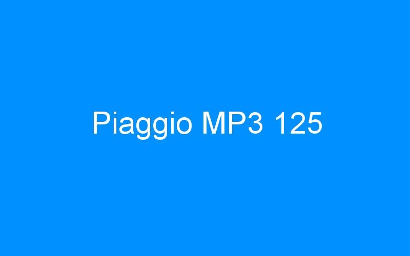 Piaggio MP3 125