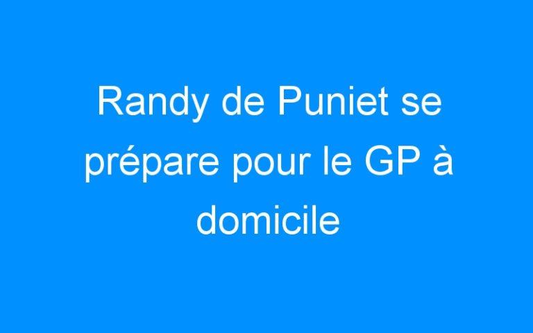 Randy de Puniet se prépare pour le GP à domicile