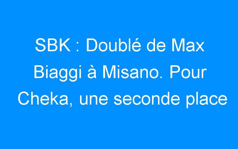 SBK : Doublé de Max Biaggi à Misano. Pour Cheka, une seconde place et une chute.