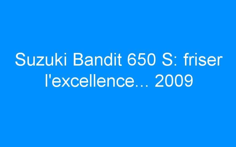 Suzuki Bandit 650 S: friser l'excellence… 2009