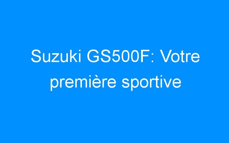 Suzuki GS500F: Votre première sportive
