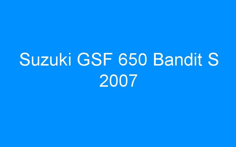 Suzuki GSF 650 Bandit S 2007