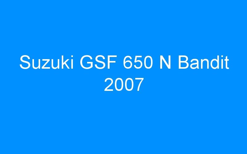 Suzuki GSF 650 N Bandit 2007