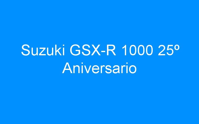 Suzuki GSX-R 1000 25º Aniversario