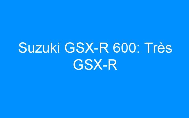Suzuki GSX-R 600: Très GSX-R