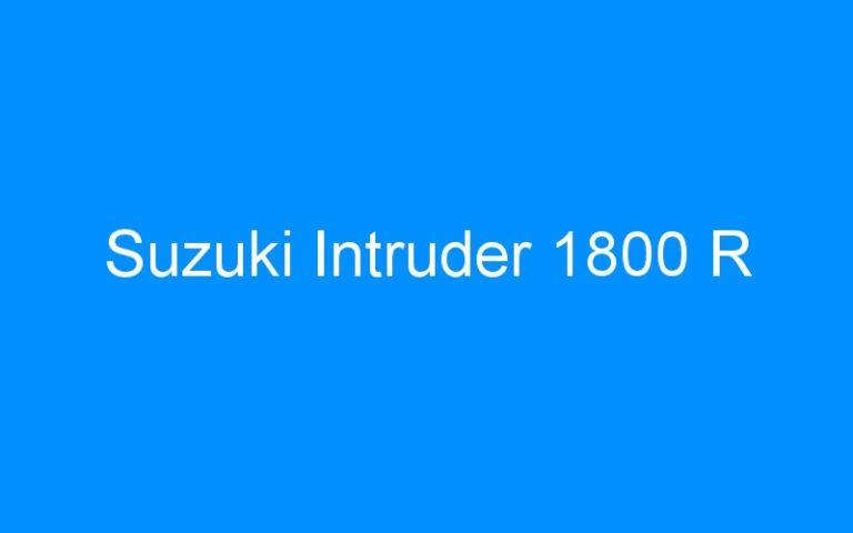 Suzuki Intruder 1800 R