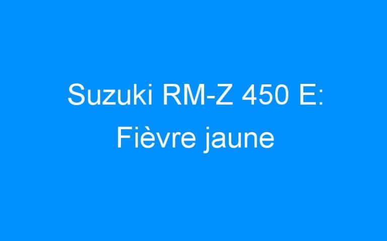 Suzuki RM-Z 450 E: Fièvre jaune