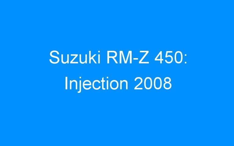 Suzuki RM-Z 450: Injection 2008