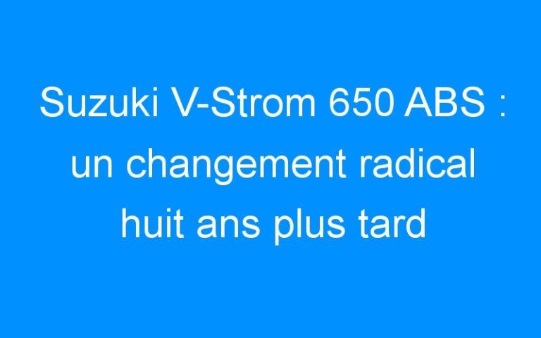 Suzuki V-Strom 650 ABS : un changement radical huit ans plus tard