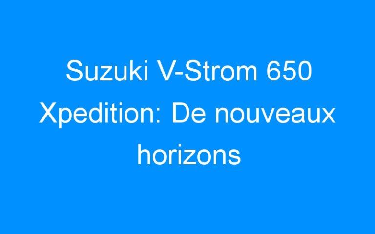Suzuki V-Strom 650 Xpedition: De nouveaux horizons