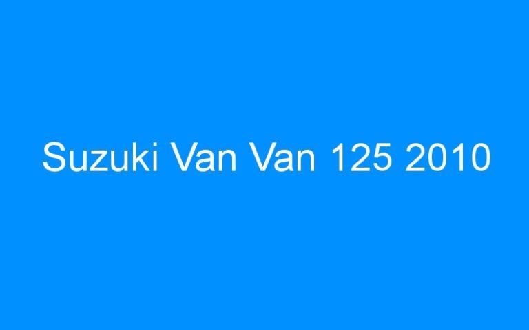 Suzuki Van Van 125 2010