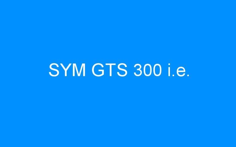 SYM GTS 300 i.e.
